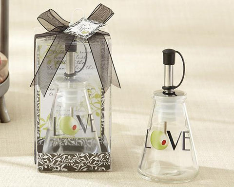 """Olive You!"" Glass LOVE Oil Bottle in Signature Tuscan Box-Jubilee Favors"