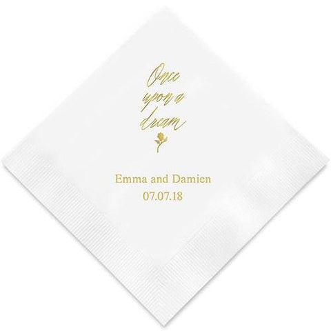 Once Upon A Dream Printed Paper Napkins-Jubilee Favors