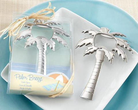 """Palm Breeze"" Chrome Palm Tree Bottle Opener-Jubilee Favors"