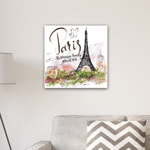Paris Personalized Canvas Sign-Jubilee Favors