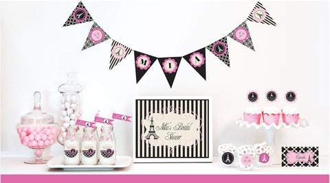 Parisian Party Decorations Starter Kit-Jubilee Favors