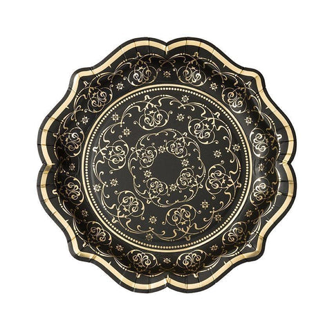 Party Porcelain Baroque Foiled Plates-Jubilee Favors
