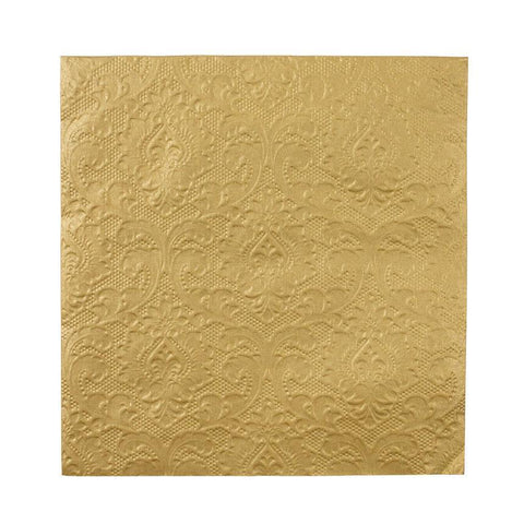 Party Porcelain Gold Embossed Napkins for $ 5.99 at Jubilee Favors