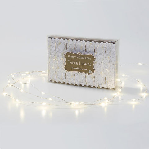 Party Porcelain Gold Table Lights-Jubilee Favors