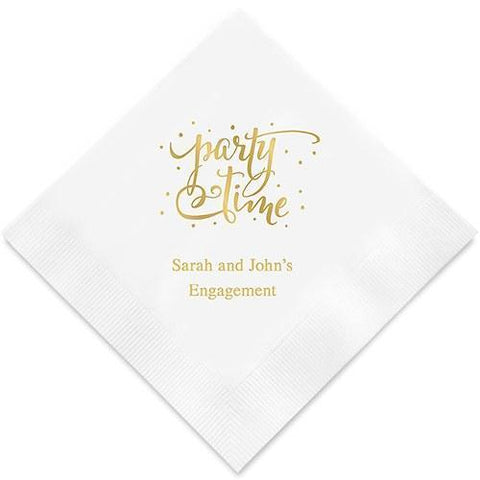 Party Time Printed Paper Napkins-Jubilee Favors