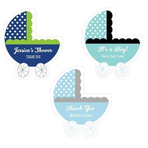 Personalized Baby Carriage Labels-Jubilee Favors