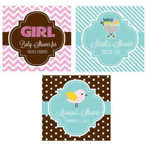 "Personalized Baby Shower 2"" Square Favor Labels & Tags-Jubilee Favors"
