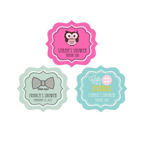 Personalized Baby Shower Frame Labels-Jubilee Favors