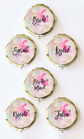 Personalized Floral Compacts-Jubilee Favors