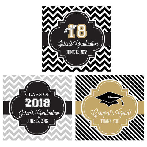 "Personalized Graduation 2"" Square Favor Labels & Tags-Jubilee Favors"
