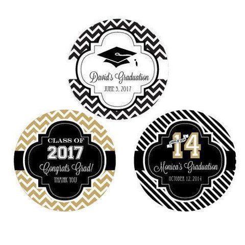 Personalized Graduation Round Favor Labels-Jubilee Favors
