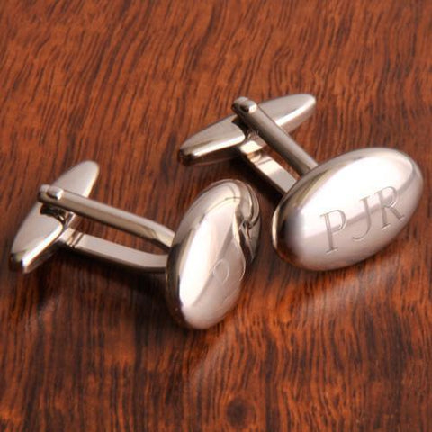 Personalized Oval Polished Cufflinks-Jubilee Favors