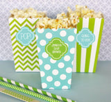 Personalized Popcorn 'n Treats Boxes (Set of 12)-Jubilee Favors