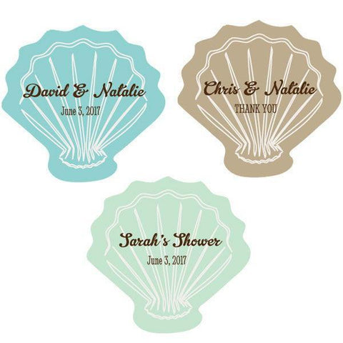 Personalized Seashell Labels-Jubilee Favors