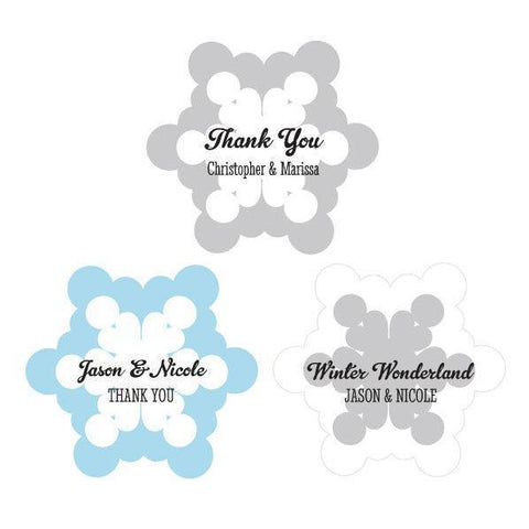 Personalized Snowflake Labels-Jubilee Favors
