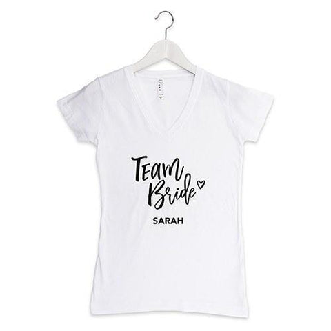 Personalized Team Shirt Bride T-Shirt-Jubilee Favors