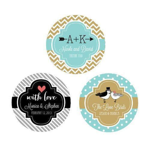 Personalized Theme Round Favor Labels-Jubilee Favors