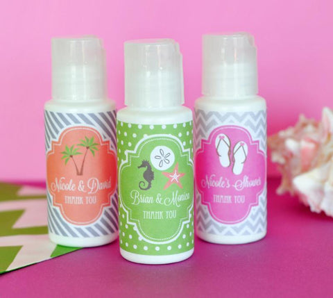 Personalized Wedding Theme Sunscreen-Jubilee Favors