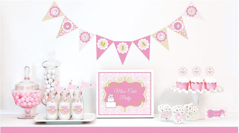 Pink Cake Mod Party Kit-Jubilee Favors