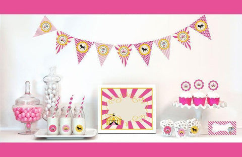 Pink Circus Decorations Starter Kit-Jubilee Favors