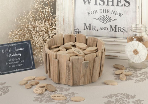 Rustic Wood Chip Holder-Jubilee Favors