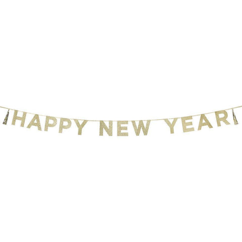 Say It With Glitter Happy New Year Banner-Jubilee Favors