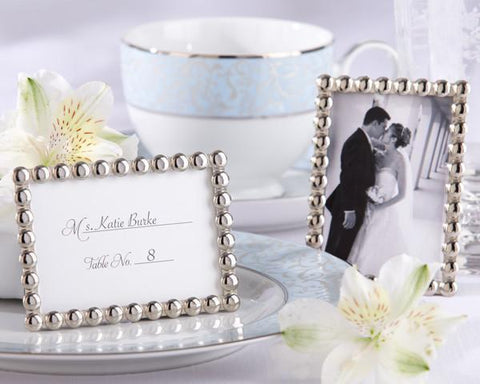 """Silver Pearls"" Mini Photo Frame-Jubilee Favors"