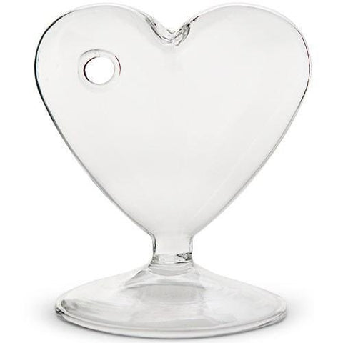 Small Clear Heart Shaped Vase (Set of 4)-Jubilee Favors
