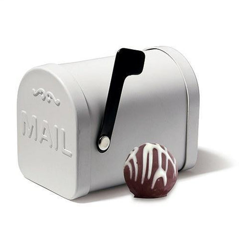 Small White Tin Mailbox Favor Container (Set of 6)-Jubilee Favors