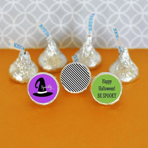 Spooky Halloween Personalized Hershey's® Kisses Labels Trio (set of 108)-Jubilee Favors