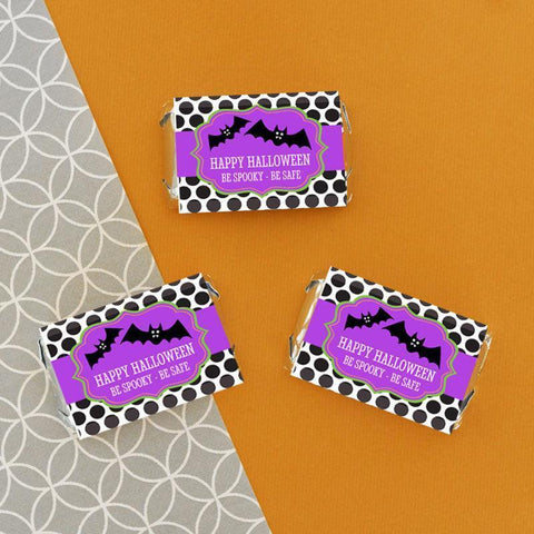 Spooky Halloween Personalized Mini Candy Bar Wrappers-Jubilee Favors