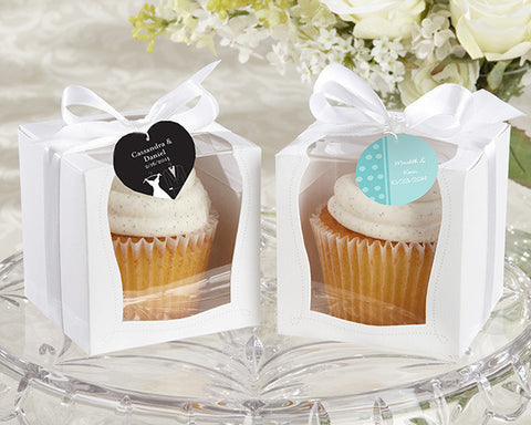 """Sweetness & Light"" Cupcake Boxes (Set of 12)-Jubilee Favors"
