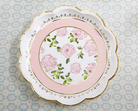 Tea Time Whimsy Paper Plates - Pink (Set of 8) for $ 3.99 at Jubilee Favors
