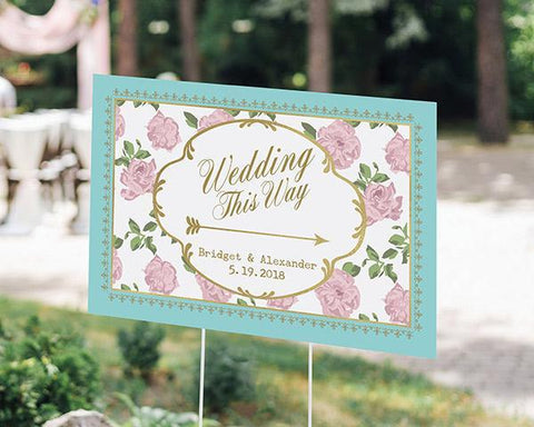Tea Time Whimsy Personalized Directional Sign (18x12)-Jubilee Favors