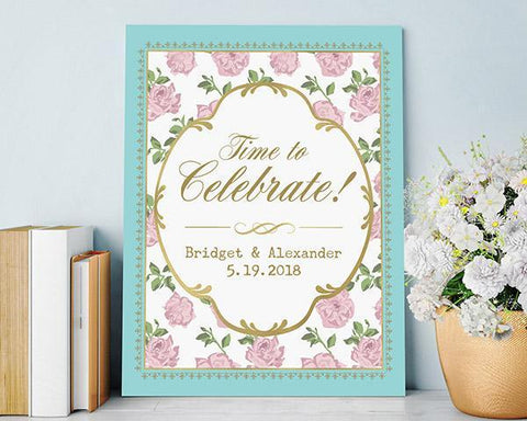 Tea Time Whimsy Personalized Poster (18x24)-Jubilee Favors
