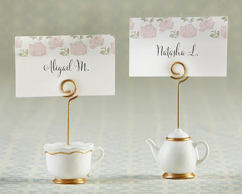 Tea Time Whimsy Place Card Holder (Set of 6) for $ 19.99 at Jubilee Favors