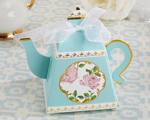 Tea Time Whimsy Teapot Favor Box (Set of 24)-Jubilee Favors