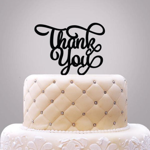 Thank You Cake Topper-Jubilee Favors