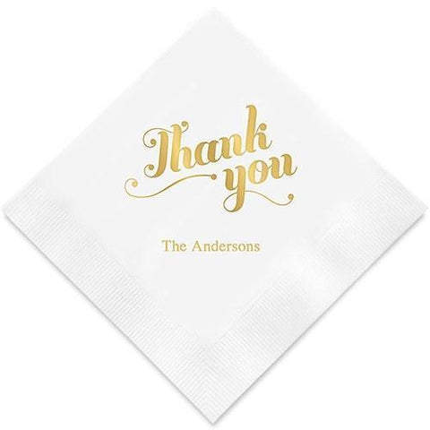 Thank You Printed Paper Napkins-Jubilee Favors