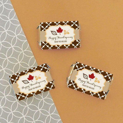 Thanksgiving Mini Candy Bar Wrappers for $ 0.50 at Jubilee Favors