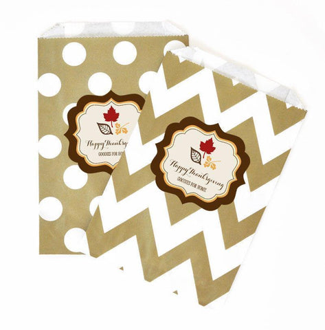 Thanksgiving Personalized Goodie Bags (set of 12)-Jubilee Favors
