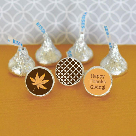 Thanksgiving Personalized Hershey's® Kisses Labels Trio (set of 108)-Jubilee Favors