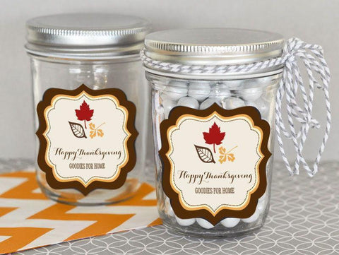 Thanksgiving Personalized Mini Mason Jars-Jubilee Favors