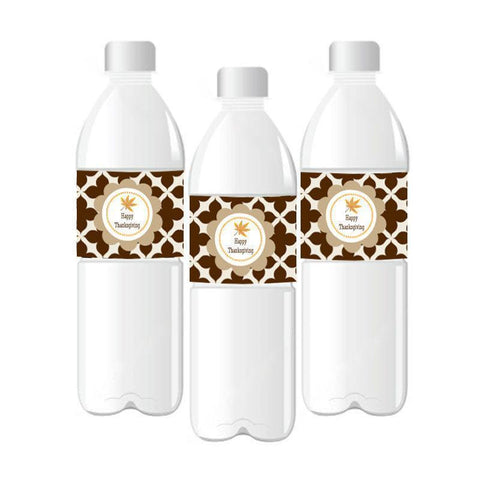 Thanksgiving Personalized Water Bottle Labels-Jubilee Favors