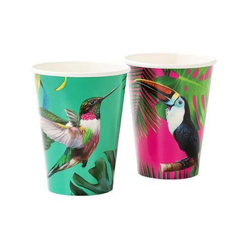 Tropical Fiesta Bright Paper Cups-Jubilee Favors