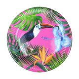 Tropical Fiesta Medium Bright Paper Plates-Jubilee Favors