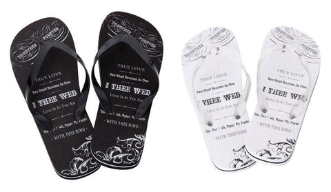 True Love Flip Flops - Just Married for $ 12.99 at Jubilee Favors