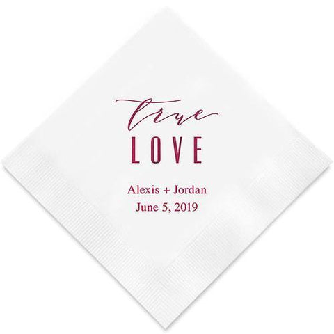 True Love - Modern Printed Napkins-Jubilee Favors