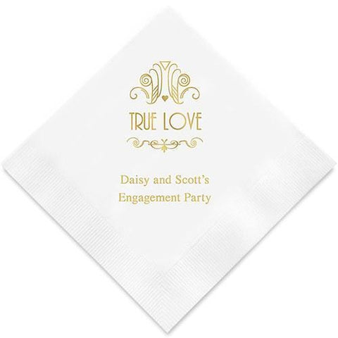 True Love Printed Paper Napkins-Jubilee Favors