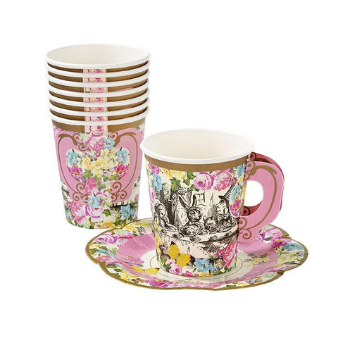 Truly Alice Cups & Saucers Set-Jubilee Favors